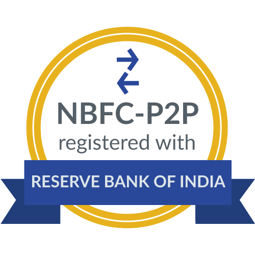 RBI badge for finzy's NBFC P2P certificate